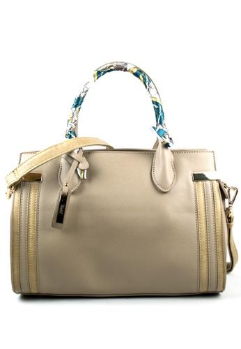 Kimbel International beige HGZ20441 Handbag with Sling C95E7AC4D6A2ECGS_1