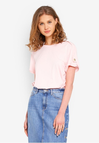ESPRIT pink Short Sleeve T-Shirt F3948AA2BCEB40GS_1