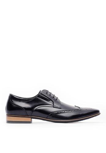 Life8 black Men formal British Style Leather Shoes-09804-Black FF32FSHCB49AECGS_1