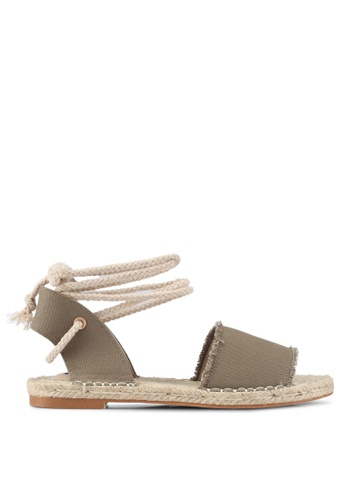 ZALORA green Laced-Up Espadrilles C6D83SH9E15025GS_1