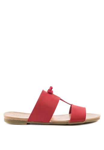 London Rag red Stephanie Flat Sandal 9FA7BSH57523C0GS_1