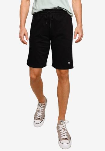 UniqTee black Cotton Fitted Shorts F4B69AABB686B9GS_1