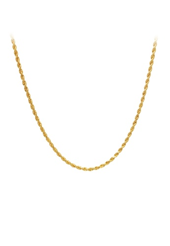 """TOMEI gold """"Men's Twisted Singapore Chain - Tomei Yellow Gold 916 (22K) (9N-SXQC18-30) """" 73378AC66F4EB8GS_1"""