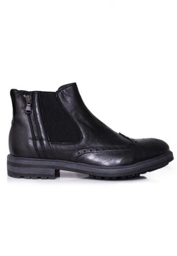 Gino Mariani black Gino Mariani Men's Leather Shoes FLORENTINO - BLACK F2D14SH2EDC614GS_1