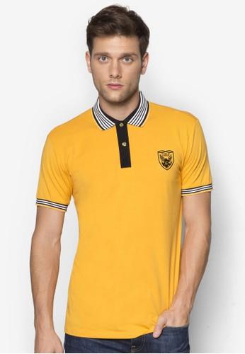 條紋esprit香港分店領短袖POLO 衫, 服飾, Polo衫