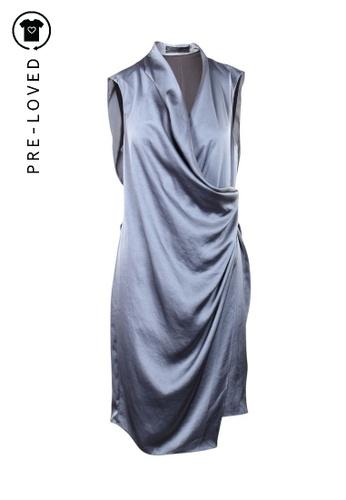 Allsaints grey Pre-Loved allsaints Wrapped Dress 6CC06AA0D2ECEBGS_1
