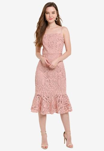 CHI CHI LONDON pink Constantia Dress 147DFAABE695BBGS_1
