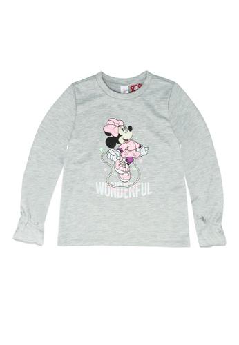 LC Waikiki grey Baby Girl Minnie Mouse Printed T-shirt DEE10KAEB15ED3GS_1