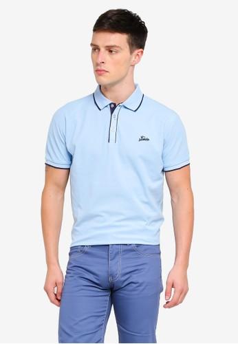 Fidelio blue Collar Lining Basic Polo Shirt AF74FAA6052924GS_1