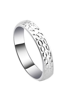 Double Oval Loop Line Couple Ring
