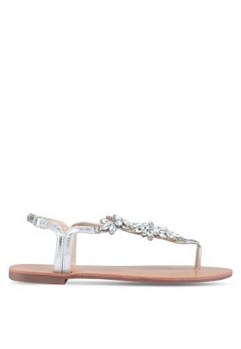 Dorothy Perkins silver Silver Fabrice Diamante Sandals 9FBF0SH4C348C9GS_1