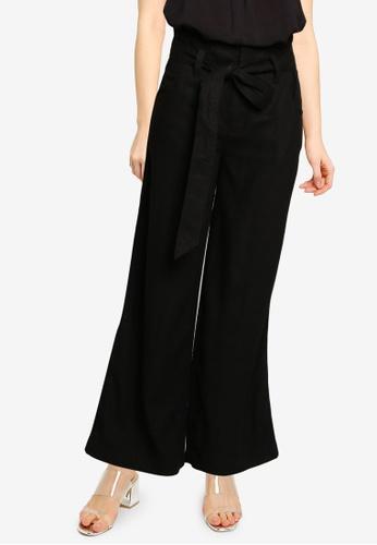 GAP black V-Linen Wide Leg Solid Pants AFD44AA1405F4CGS_1