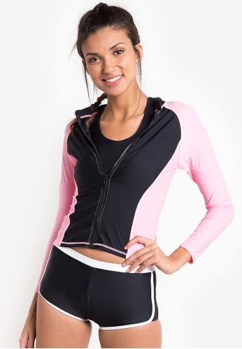 Kats Clothing black and pink Rashguard KA896US10MWNPH_1