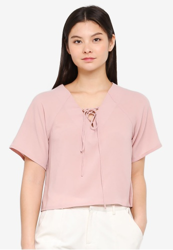 Something Borrowed pink Relaxed Boxy Top 96EB5AA09EB025GS_1