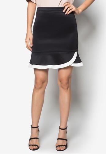 簡約荷葉邊短裙zalora 評價, 服飾, 裙子