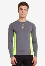 Odlo grey Crew Neck Ceramicool Pro Long Sleeve T-Shirt OD608AA0S11CMY_1