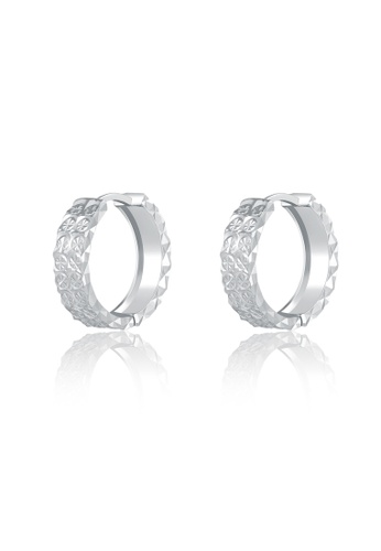 MaBelle silver 14K/585 White Color Gold Gold Hoop Earrings 28E74ACE4C232BGS_1