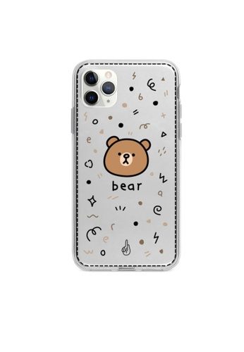 Kings Collection white Little Brown Bear Pattern iPhone 12 Case (KCMCL2385) 34220AC08BCD9EGS_1