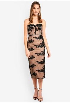 cbfff4b6310757 Elle Zeitoune black Bustier Style Black Lace Dress With Detachable Straps  9BAA5AA74158EAGS 1