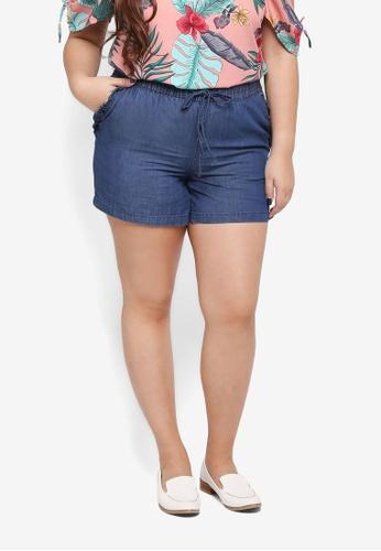 Junarose blue Plus Size Allegra Shorts 4152DAAD97D394GS_1