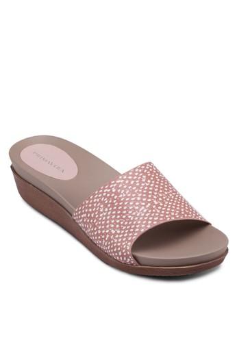 Staesprit 寢具cey 寬帶厚底楔型涼鞋, 女鞋, 楔形涼鞋