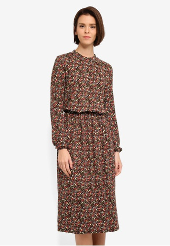 Vero Moda black and multi Kenya Calf Dress D56BEAAB2F9580GS_1
