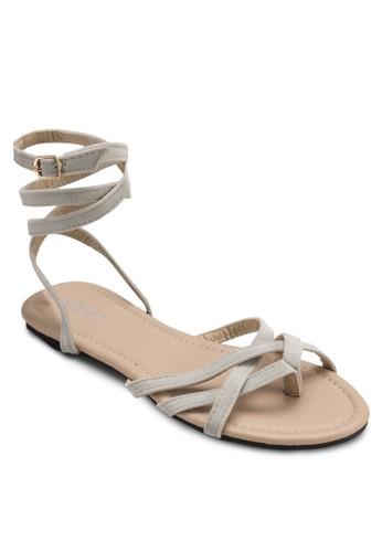 Heidi 纏繞式繞踝涼鞋, 韓系時尚,esprit outlet 桃園 梳妝