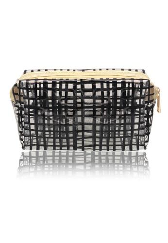 Her Jewellery black Checker Pouch (Black) 75421AC8213B49GS_1