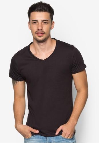 Jeesprit 京站d 基本款V 領T 恤, 服飾, 素色T恤