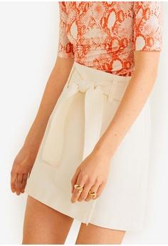 0ff40ce8ff Mango beige Belt Mini Skirt 7E45FAAE860FA4GS 1