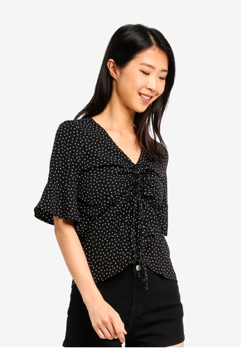 ZALORA BASICS multi Basic Drawstring Blouse 61BE8AA183BD7EGS_1