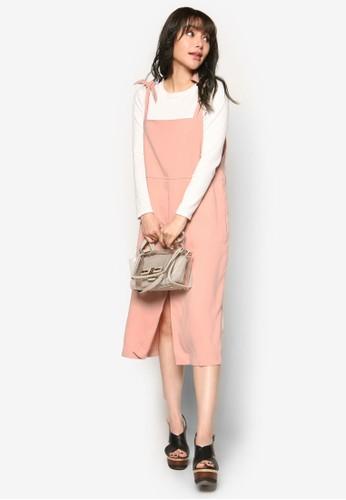 蝴蝶結esprit香港分店吊帶連身裙, 服飾, 洋裝