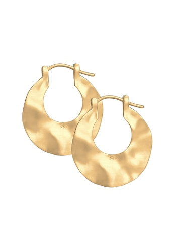 ELLI GERMANY gold Elli Germany Earrings Creole Frosted Wave Trend 925 Silver Gold Plated B64A5AC4B9CA4BGS_1
