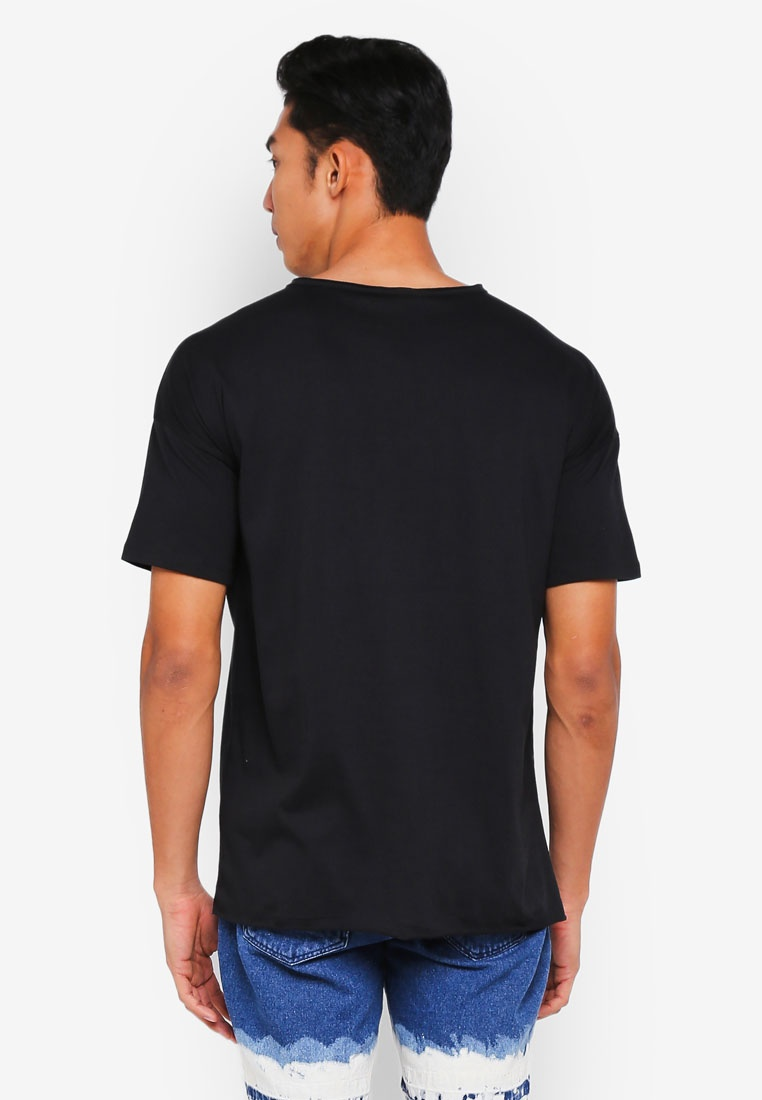 Finished Penshoppe T Boxy Shirt Black Raw xAqBvq