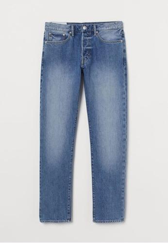 H&M blue Straight Jeans A037EAA5F4482DGS_1