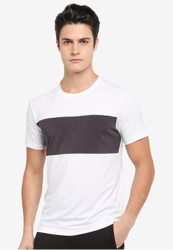 Calvin Klein white Bold Block Short Sleeve T-Shirt - Calvin Klein Performance 91629AABBC1928GS_1