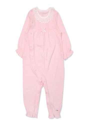 Organic mom pink Baby Girls 2020 Spring-Summer New Styles Pink Dot Swadding Gown D51DDKA95EB052GS_1