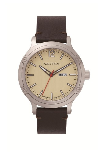Nautica Watch brown Nautica jam tangan pria Port Hole NAPPRH015 Coklat 75FE8ACAAB3D88GS_1