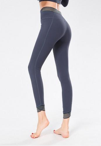 B-Code grey ZYG3067-Lady Quick Drying Running Fitness Yoga Sports Leggings -Grey 0BDEAAA3D631FBGS_1