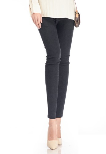MOOIMOM black MOOIMOM Supersoft Acid Wash Maternity Jeans Celana Panjang Hamil - Black MO368AA76VAXID_1