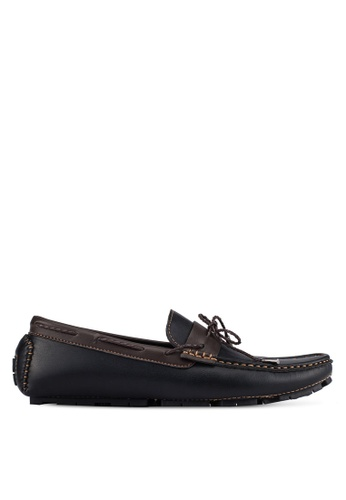 UniqTee black Lace Up Slip-On Moccasins UN097SH0S20WMY_1
