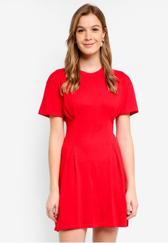 Cotton On red Tory Waisted Detail T-Shirt Dress 40925AA7C52FF4GS_1
