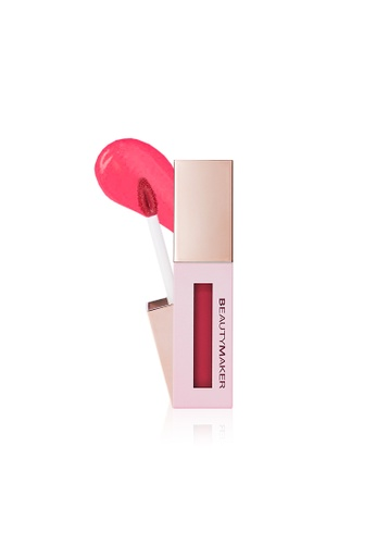 BEAUTYMAKER pink and orange BeautyMaker Water Glossy Lip Stain Coral Love DF637BE07772F8GS_1
