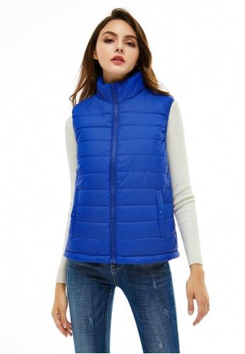 London Rag blue Lightweight Sleeveless Puffer Vest 74E9CAA502876EGS_1