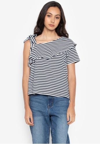 6d6550433242bb Shop Kashieca Striped Asymmetrical Top Online on ZALORA Philippines