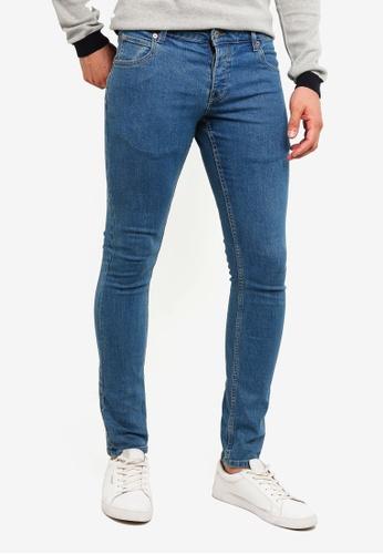 !Solid 藍色 Dexter 緊身牛仔褲 76CD5AAF72D071GS_1