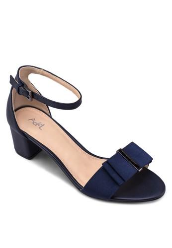 蝴esprit手錶專櫃蝶結繞踝低跟涼鞋, 女鞋, 鞋