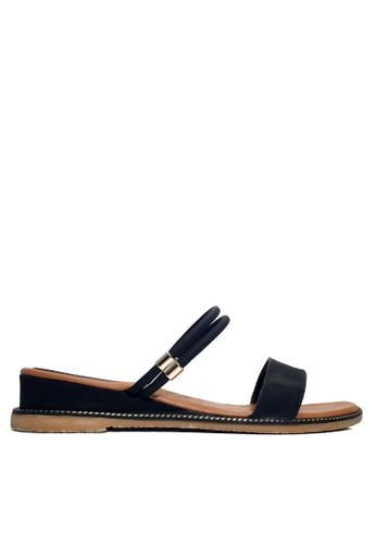 Twenty Eight Shoes 黑色 兩種穿著方式的矮跟鞋 VSZ07 94FD4SHD2A04B3GS_1