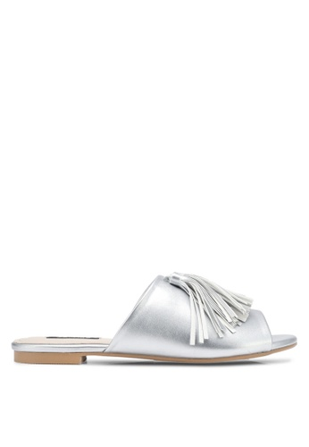 ZALORA silver Tassel Sliders D08CASH20202B4GS_1