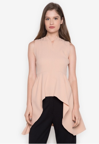 NEW ESSENTIALS pink Dennis Lustico Full Peplum Top NE239AA0JD23PH_1